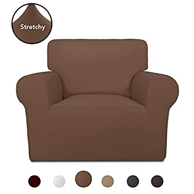PureFit Super Stretch Chair Sofa Slipcover - Spandex Non Slip Soft Couch Sofa Cover, Washable Furniture Protector with Non Skid Foam and Elastic Bottom for Kids