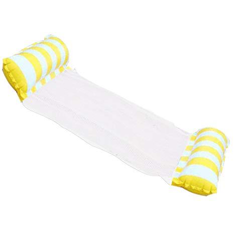Yusea Amaca d'acqua gonfiabile galleggiante letto chaise longue Drifter piscina galleggiante da spiaggia, giallo, 120cm * 70cm