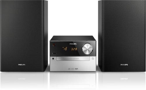 Philips MCM2320 Kompaktanlage (15 Watt, BassReflex,USB, UKW, CD-MP3) schwarz
