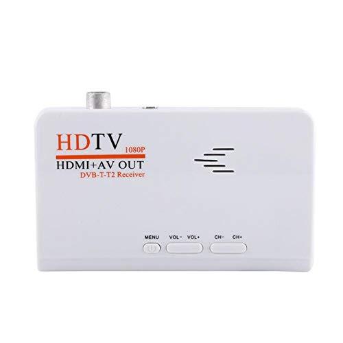 Socobeta Ricevitore Digitale terrestre 1080P HD HDMI DVB-T2 TV Box sintonizzatore Ricevitore Convertitore Telecomando Senza Porta VGA