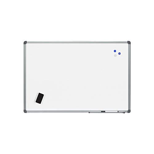 Rocada | Pizarra Blanca Magnética 100 x 150 cm con Marco de Aluminio | Fácil de borrar