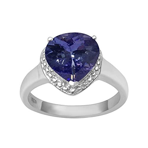 Shine Jewel Multi Elija su Anillo de Promesa de Solitario en Forma de corazón...