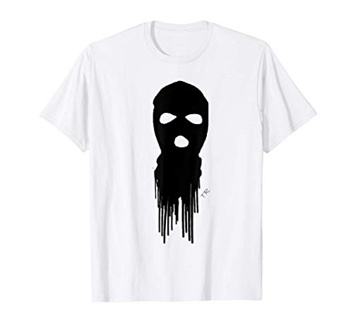 Ski Mask shadow Tony Rello Stencil Logo T-Shirt