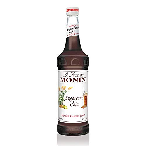 Monin - Sugarcane Cola Syrup, Authentic Cola Flavor, Great for Soda, Floats, and Slushes, Gluten-Free (750 ml)