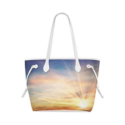 Sacs fourre-tout réutilisables Sunset Silhouette sac à bandoulière de mer de noix de coco Gym sac à bandoulière grande capacité résistant à l'eau avec poignée Durable