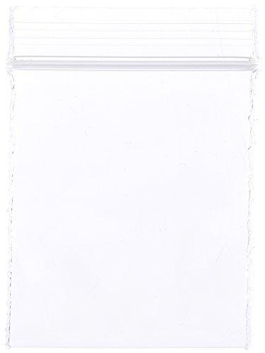 "Dazzling Displays PBR-1502-100 Reclosable Plastic Bag 1-1/2""x2"" 2mil Zip Lock pk/100"