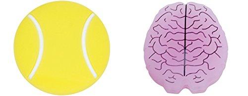 Gamma Sports - Amortiguador de Vibraciones, Unisex Adulto, String Things Tnnsball/Brain2Pk, AGST14, Pelota de Tenis/Cerebro