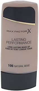 Max Factor Long Lasting Performance Foundation, No.106 Natural Beige, 1.1 Ounce