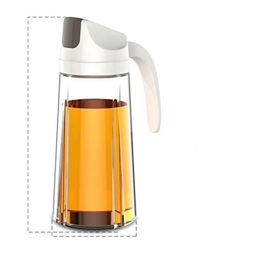 1 botella de aceite de vidrio a prueba de polvo, apta para salsa de soja y vinagre, aceite de cocina blanco albaricoque, 630 ml, 750 ml