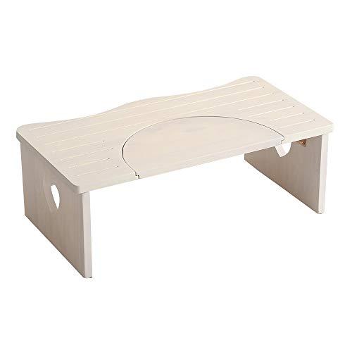 子供 踏み台 トイレや洗面所に 36.5cm 木製 ハート柄 折りたたみでコンパクトに 子ども 折り畳み ステップ サリタ ホワイトウォッシュ