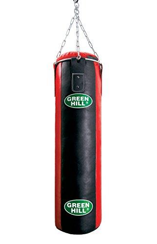 GreenHill Erwachsene Boxsack ungefüllt Leder gefüllt, Mehrfarbig, 150 x 35