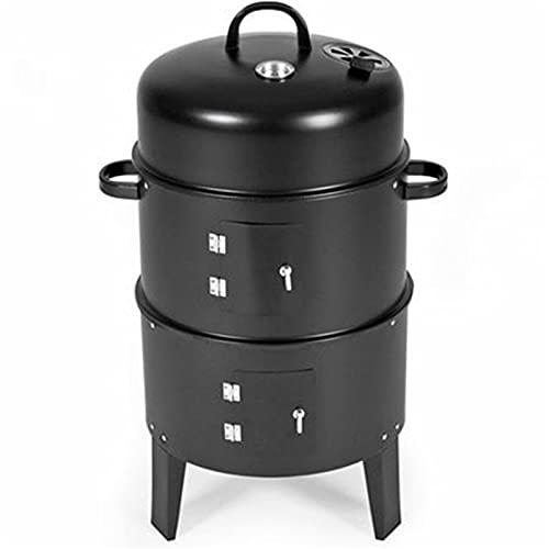 FEANG Grill Metall 3 in 1 BBQ Grill Räumen Raucher Dampfmaschine Grill Tragbare Outdoor Camping Holzkohleofen Für Kochwerkzeuge Zubehör Grillwerkzeug