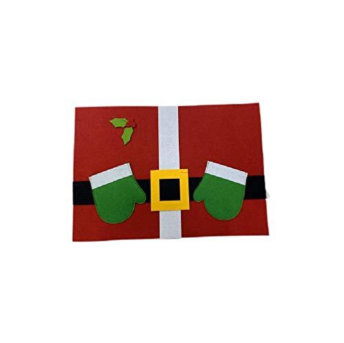 takestop® servethouder placemats van vilt, 6 stuks Kerstmis, Kerstman, Kerstman, 49 x 33 x 2 cm, decoratie tafel, tafel, kerstdecoratie, kerstdecoratie, kerstdecoratie