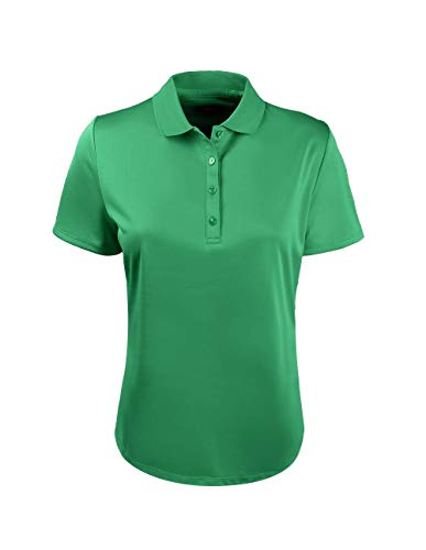 Callaway Solid Swing Tech Short Sleeve Golf Polo Shirt, Golf Green, Large