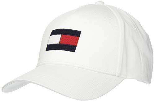Tommy Hilfiger Big Flag Cap Gorro/Sombrero, TH Optic Blanco, Taille Unique para Hombre