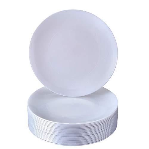 Silver Spoons Einweg-Kuchenteller aus Kunststoff, Opulence Pearl, 20 Stück, 19,1 cm, Dessert