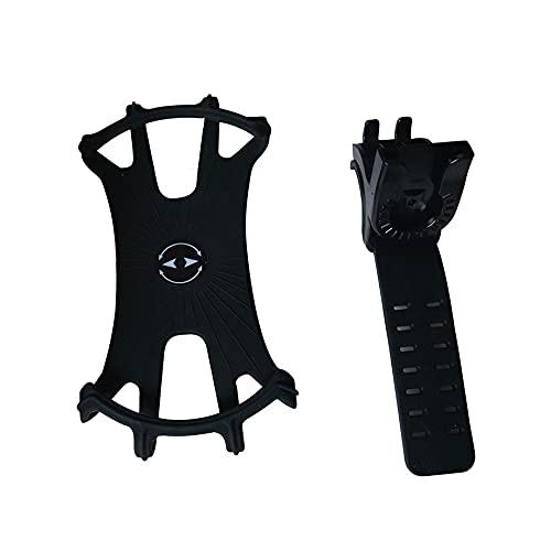 Surgewavelv Soporte para teléfono móvil para Bicicleta, Motocicleta extraíble, Soporte para Bicicleta antivibración, rotación 360 para teléfono Inteligente de 4.5-7.0 Pulgadas