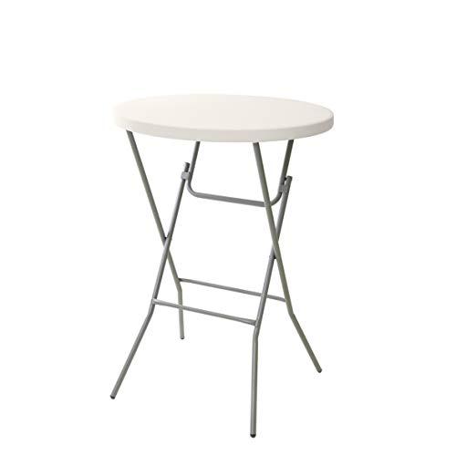 greemotion Stehtisch in Grau, wetterfester Partytisch für Drinnen und Draußen, Klapptisch leicht aufbaubar