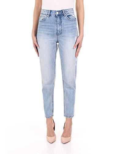 VERO MODA Damen VMJOANA HR MOM Ankle DESTR J LI325 NOOS Jeans, Light Blue Denim, 29/32