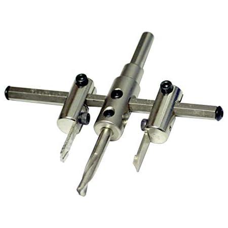 Verstellbar Lochsäge Lochbohrer Ø 30-120mm Kreisschneider Holz Lochschneider DHL