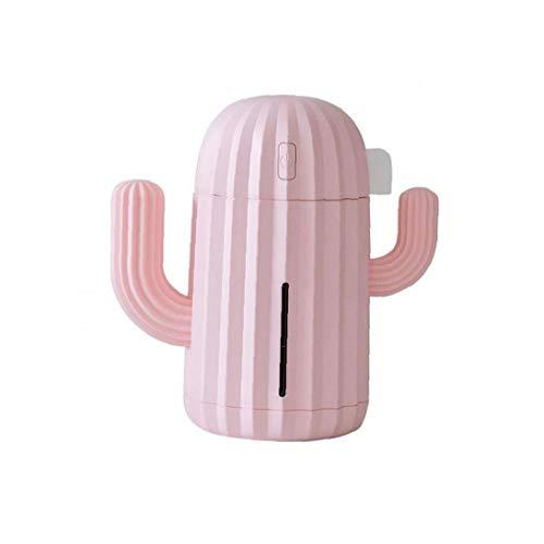 AAGOOD Mini humidificador de Aire Rosa Cactus 340ml Capacidad ultrasónico difusor de Agua de Escritorio DC5V USB luz de la Noche Fabricante de la Niebla -Oficina Decoración