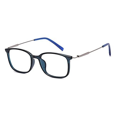 Fudeer Gafas De Lectura con Bloqueo De Luz Azul Unisex Anteojos con Bisagra De Resorte para Ordenador Gafas Ligeras para La Vista Cómodas Gafas De Lectura para Juegos,Azul,+1.00