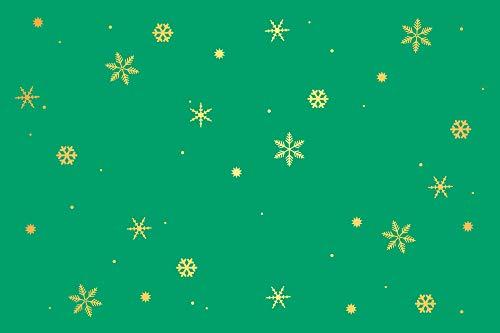 PremiumLine Briefumschläge Frohe Weihnachten Sterne Schneeflocken rot grün beige Format 12 x 18 cm hochwertige Kuverts ohne Fenster selbstklebend (Schneeflocken grün, 20)
