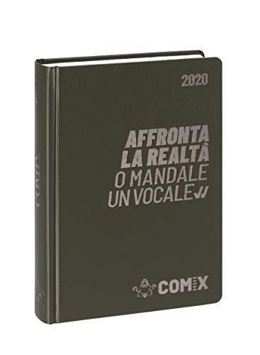 Comix Diario 2019/2020 datato 16 mesi, formato Standard 13x17.8 cm, verdone militare