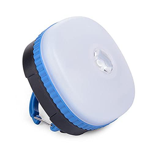 Lámpara LED para Camping, USB Recargable 4 Modos Lámpara de Campamento con Base Magnética Impermeable Portátil Luz de Emergencia para Pesca, Excursionismo