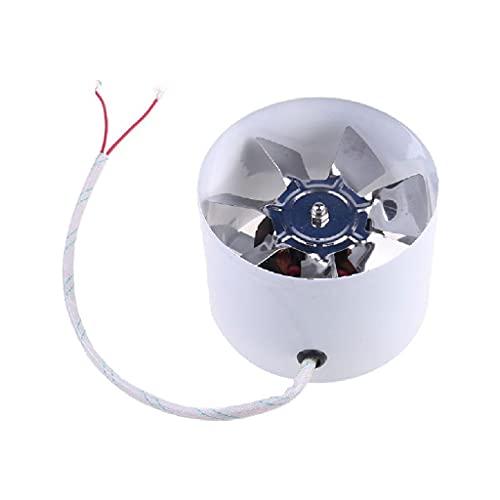 YOUCHOU Ventilador de Aire de conducto de 4 Pulgadas, Tubo de Ventana de Pared, Ventilador de Escape, Extractor de Metal, Ventiladores de ventilación de Techo, soplador
