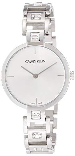 Calvin Klein Damen-Uhren Analog Quarz One Size Silber Edelstahl 32005870