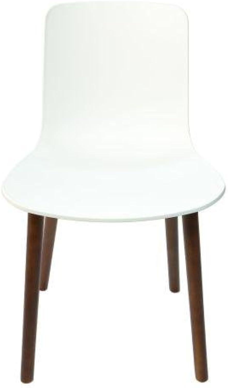 Set of 4 - Jasper Morrison Replica Hal Dining Chair Replica - Walnut Legs - White
