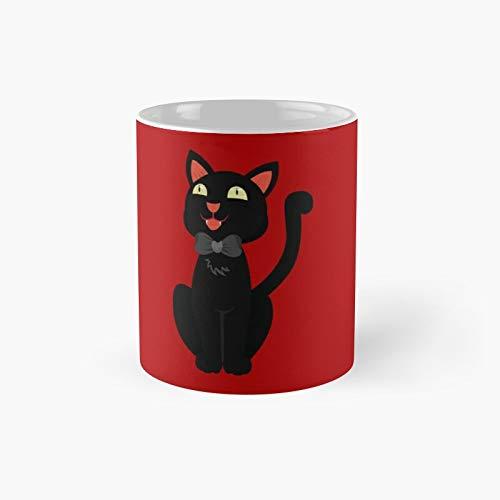 Taza clásica de gato negro | El mejor regalo divertidas tazas de café de 325 ml