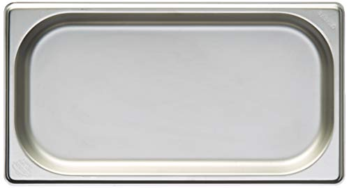 Lacor Cubeta 1/3, Inoxidable 18/10, Acero, Plateado, 176 x 325 x 20 mm