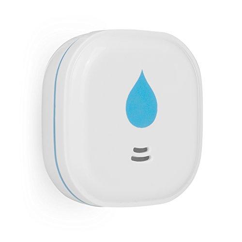 Smartwares WM620 FWA-18200 10-Jahres Wassermelder - Ultra Flach - Wasserwächter mit 85 dB für Bad,Küche und Keller, batteriebetrieben, 3 V, Blau, Weiß