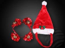 Unbekannt Bonnet de Noël pour kit de Doudou & Animaux Domestiques (& Collier)