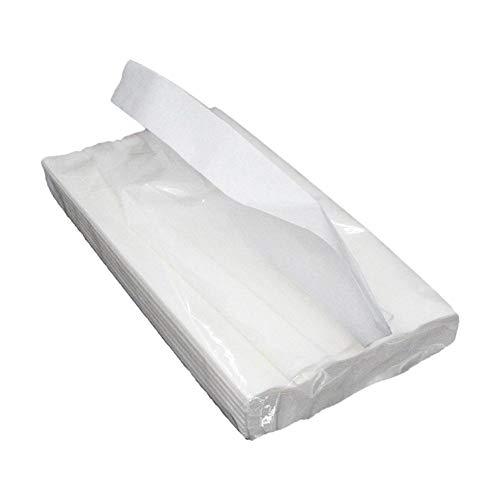 Jinclonder Auto-zakdoek, polyurethaanpapier, pompen, 2 lagen, 50 pompen, toiletpapier, native hout, zacht en comfortabel, gemakkelijk te demonteren voor auto's, badkamer, keuken