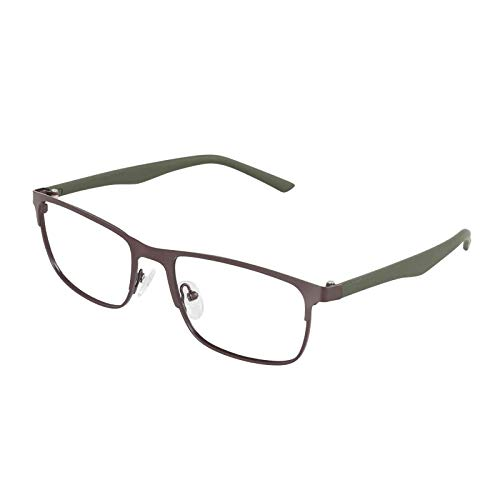 YGF121 BONOX ダルトン おしゃれ 老眼鏡 シニアグラ Reading Glasses (YGF120BRG BROWN_M.GREEN, 1.0)