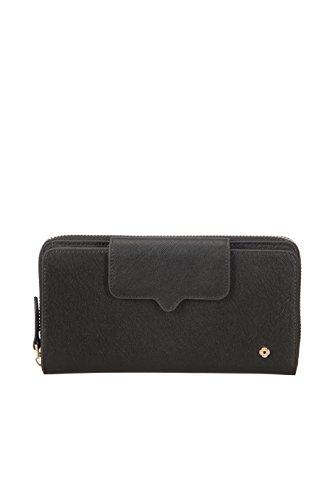SAMSONITE Miss Journey SLG - Large Wallet for 18 Creditcards + Zip Extension Kreditkartenhülle, 0 Liter, Black