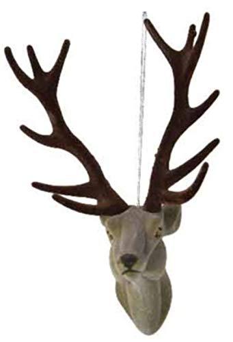KAE STAG/testa di renna albero di natale/decorazione/ornamento – marrone o grigio – 13 cm (grigio)