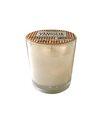 Vaniglia VA00601DSP Candele, Cera e Bicchiere in Vetro, Beige, Taglia Unica