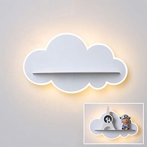 Lámpara de Pared LED Luces de Pared Para Niños de Dibujos Animados, Nubes Creativas Luz Para Niños, Luz de Noche Para HabitacióN Infantil Blanca CáLida 3000k, Luz de Dormitorio L30.5cm