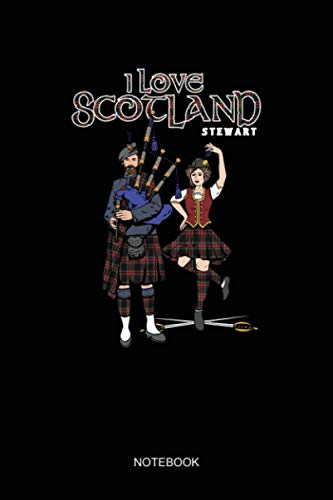 Stew Clan Piper Dancer T an Plaid I love Scotland NOTEBOOK: Notebook Planner, Daily Planner Journal, To Do List Notebook, Daily Organizer