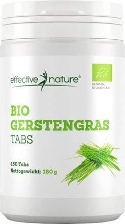 effective nature - Bio Gerstengras-Tabs - Sehr Hoher Eisengehalt - Reich an Wichtigen Nährstoffen - In Deutschland Hergestellt - Reicht Für 90 Tage - 450 Tabs