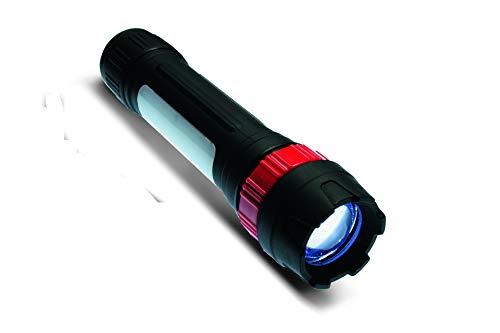 Kronus Unisex konuslight-96Piezas Linterna con Cabeza Ajustable, Color Negro/Rojo, Talla única