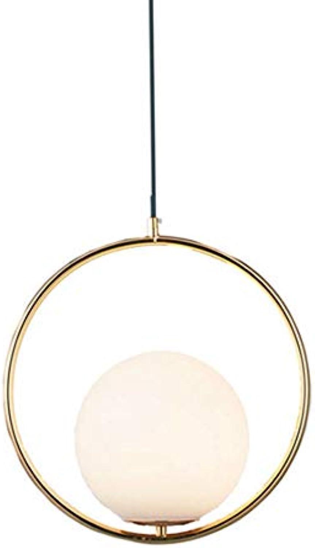 MCYUI Nordic Art Glas Kronleuchter, Postmoderne Restaurant Bar Kronleuchter, Verstellbare Persnlichkeit, Einfaches Schlafzimmer, Wohnzimmer Nachttischlampe, Schwarz, Gold,Gold
