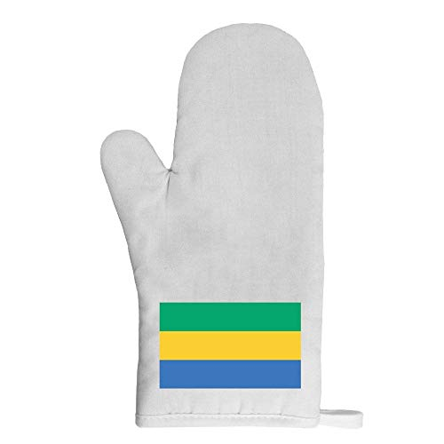 Mygoodprice Ofenhandschuh Topflappen Flagge Gabun