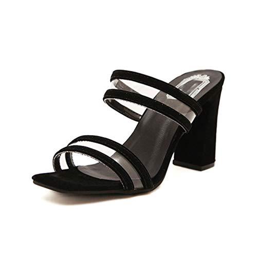 Womens Sandalen Mode Sommer-Stil Schuhe Dicke High Heels offene Zehen Flip Flops