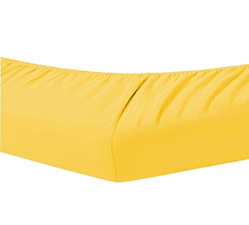 Dormisette Topper Spannbettlaken Boxspring Bett 180-200 x 200-220 cm 0308 Mais