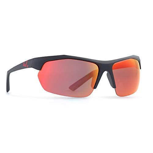 INVU Unisex Polarisierte Sonnenbrille Sportbrille A2809 Matt Schwarz (A2809A), Linse Rot